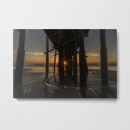 Peekabo Pier Sunrise Flagler Beach, Florida Metal Print