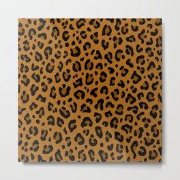GOLDEN LEOPARD PRINT – Yellow Ocher | Collection : Punk Rock Animal Prints. Metal Print