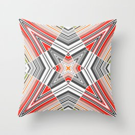 abstract star, geometric 2 Throw Pillow