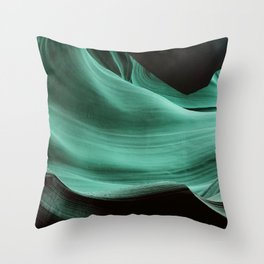 Blue Rock Throw Pillow