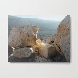 Light and Stone Metal Print