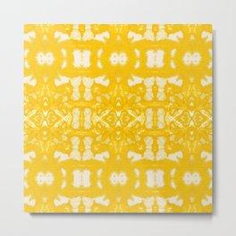 Yellow Oxford Shibori Metal Print