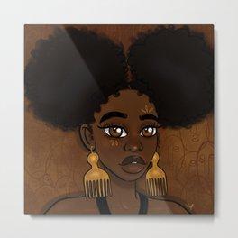 Afro Puffs Metal Print