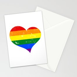 LGBT - Lesbian Gay Bisexual Transgender Heart Support Homosexual Stationery Cards