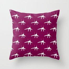Gymnastics Pattern Throw Pillow