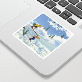 Pow Clouds Sticker