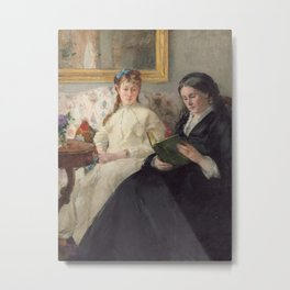 The Mother and Sister of the Artist Metal Print