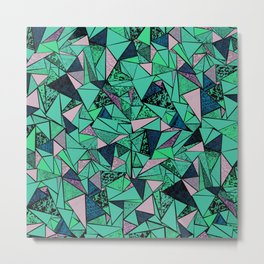 TRIANGLE GEOMETRIC Metal Print