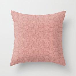 Ball of knitting yarn tone on tone Throw Pillow