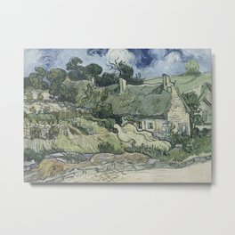 Thatched Cottages at Cordeville Metal Print