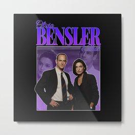 Bensler Olivia Benson Elliot Stabler 90s Inspired Metal Print