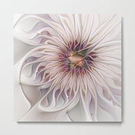 Flourish 2, Abstract Fractals Art Metal Print