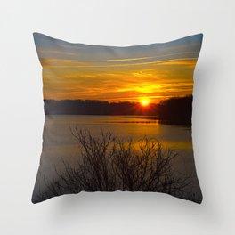 Sunrise at Little Seneca Lake Throw Pillow