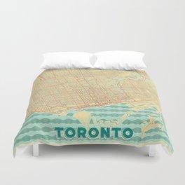 Toronto Map Retro Duvet Cover