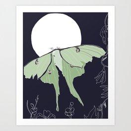 Luna Moth Art Print