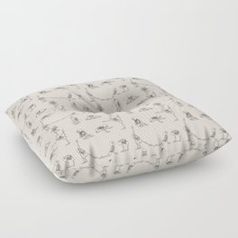 Skeleton Yoga Floor Pillow