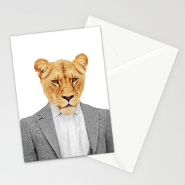Lioness Feminist Girl Boss Stationery Cards