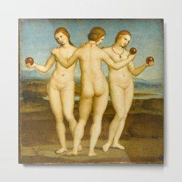 Raphael - Three Graces Metal Print