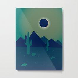 Desert Eclipse Metal Print