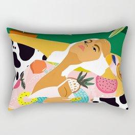 Moon Lover #illustration #feminism Rectangular Pillow