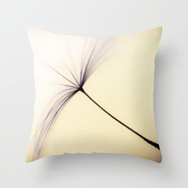Whispered Wishes on a Dandelion Seed Throw Pillow