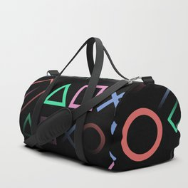 Playstation Buttons Maze Lines Duffle Bag