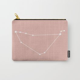 Capricorn Zodiac Constellation - Pink Rose Carry-All Pouch
