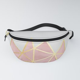 Pink & Gold Geometric Fanny Pack