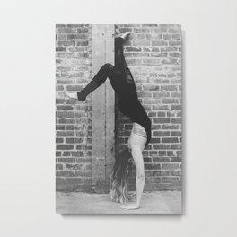 Yogic Handstand Metal Print