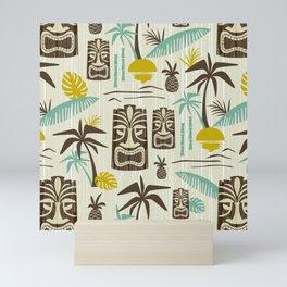Island Tiki - Tan Mini Art Print