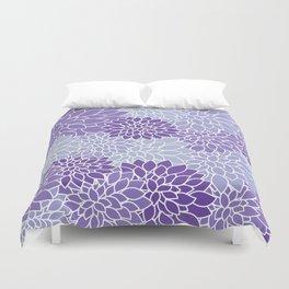 Ultra Violet Lavender Dahlias Duvet Cover