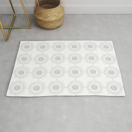 Medallions in Soft Gray Rug