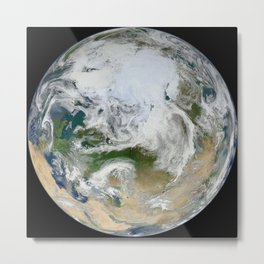 382. Blue Marble 2012 - Arctic View Metal Print