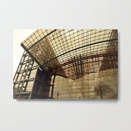 Facade of BERLIN Train Station Metal Print