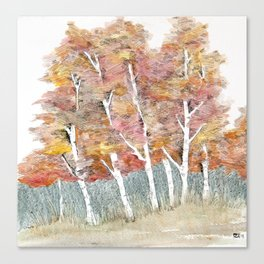 A Stand of Fall Canvas Print