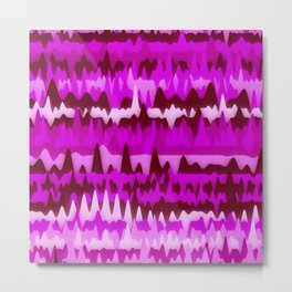 Abstract Waves Colorful Art Pattern 003 Metal Print