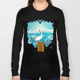 Pelican Summer Beach Long Sleeve T-shirt