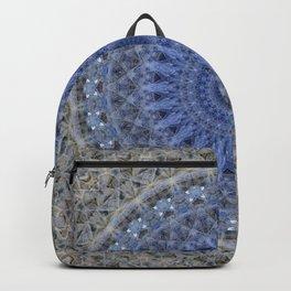 Gray and blue mandala Backpack