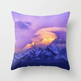 Meili Snow Mountain Shangri-la China Sunrise Throw Pillow