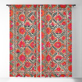 Kermina Suzani Uzbekistan Colorful Embroidery Print Blackout Curtain