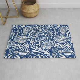 Hawaiian tribal pattern Rug
