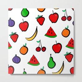 Fresh  Fruit Pattern Metal Print