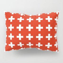 flag of switzerland 2-Switzerland, Alps,swiss,Schweizer,suisse,zurich,bern,geneva Pillow Sham
