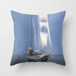 Atlantis Sailing Ship Turner Storms Throw Pillow