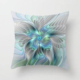 Abstract Butterfly, Fantasy Fractal Art Throw Pillow