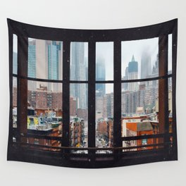 New York City Window Wall Tapestry