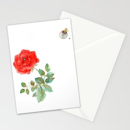 Le Petit Prince Little Prince with Fox & Rose horizontal Stationery Cards