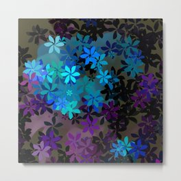 Mystical Blue and Purple Flower Garden Metal Print