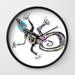 Sticky fingers. Gecko, by Miss C Wall Clock