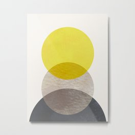 SUN MOON EARTH Metal Print